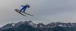 02.01.2016, Bergisel Schanze, Innsbruck, AUT, FIS Weltcup Ski Sprung, Vierschanzentournee, Training, im Bild Michael Hayboeck (AUT) // Michael Hayboeck of Austria during his Practice Jump for the Four Hills Tournament of FIS Ski Jumping World Cup at the Bergisel Schanze, Innsbruck, Austria on 2016/01/02. EXPA Pictures © 2016, PhotoCredit: EXPA/ JFK