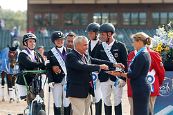 Britta Bando, Regine Mispelkamp, dr. Angelika Trabert, Steffen Zeibig, Elke Philipp, GER, <br /> World Equestrian Games - Tryon 2018<br /> © Hippo Foto - Sharon Vandeput<br /> 21/09/2018