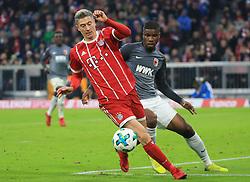 20171118, 1.BL, FC Bayern vs FC Augsburg, Allianz Arena, Muenchen, Fussball,  Sport, im Bild:...Robert Lewandowski (FCB) vs Kevin Danso (FC Augsburg)..*Copyright by:  Philippe Ruiz..Postbank Muenchen.IBAN: DE91 7001 0080 0622 5428 08..Oberbrunner Strasse 2.81475 MŸnchen, .Tel: 089 745 82 22, .Mobil: 0177 29 39 408..( MAIL:  philippe_ruiz@gmx.de ) ..Homepage: www.sportpressefoto-ruiz.de. (Credit Image: © Philippe Ruiz/Xinhua via ZUMA Wire)