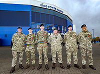 Honour Guard at King Power Stadium <br /> <br /> Photographer Rachel Holborn/CameraSport<br /> <br /> The Premier League - Saturday 10th November 2018 - Leicester City v Burnley - King Power Stadium - Leicester<br /> <br /> World Copyright © 2018 CameraSport. All rights reserved. 43 Linden Ave. Countesthorpe. Leicester. England. LE8 5PG - Tel: +44 (0) 116 277 4147 - admin@camerasport.com - www.camerasport.com