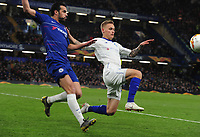 Football - 2018 / 2019 UEFA Europa League - Round of Sixteen, First Leg: Chelsea vs. Dynamo Kiev<br /> <br /> Vitaliy Buyalskiy of Dynamo and Pedro of Chelsea, at Stamford Bridge.<br /> <br /> COLORSPORT/ANDREW COWIE