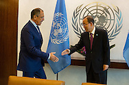 Sergey V. Lavrov the Foreign Minister of the Russian Federation with United Nations Secretary General Ban Ki moon.