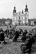 Pilgrim in the pilgrimage shrine of Kalwaria Zebrzydowska, Poland. 2010