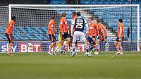 GOAL - Millwall's Jed Wallace scores his sides second goal from a free kick<br /> <br /> Photographer Craig Mercer/CameraSport<br /> <br /> Football - The Football League Sky Bet League One - Millwall v Blackpool - Saturday 5th March 2016 - The Den - Millwall<br /> <br /> © CameraSport - 43 Linden Ave. Countesthorpe. Leicester. England. LE8 5PG - Tel: +44 (0) 116 277 4147 - admin@camerasport.com - www.camerasport.com