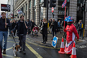 Stop Trump's Muslim ban demonstration on 4th February 2017 in London, United Kingdom. The protest was called on by Stop the War Coalition, Stand Up to Racism, Muslim Association of Britain, Muslim Engagement and Development, the Muslim Council of Britain, CND and Friends of Al-Aqsa. Thousands of demonstrators gathered to demonstrate against Trumps ban on Muslims, saying it must be opposed by all who are against racism and support basic human rights, and for Theresa May not to collude with him.