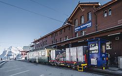 15.01.2020, Jungfrauenjoch, Wengen, SUI, FIS Weltcup Ski Alpin, Vorberichte, im Bild Bahnhof kleine Scheidegg (2061m) // Kleine Scheidegg train station (2061m) during a preliminary reports prior to the FIS ski alpine world cup at the Jungfrauenjoch in Wengen, Switzerland on 2020/01/15. EXPA Pictures © 2020, PhotoCredit: EXPA/ Johann Groder **** ACHTUNG - dieses Bilddatei ist für den Grossformatdruck in einer maximalen Grösse mit mehr als 18142 x 6717 pixel (ca. 700 MB) verfügbar! Fragen Sie nach den hochauflösenden Daten // ATTENTION - This image file is for Large Format Printing available in a maximum size of more then 18142 x 6717 pixels (about 700 MB)! Ask for the high-resolution data. ****