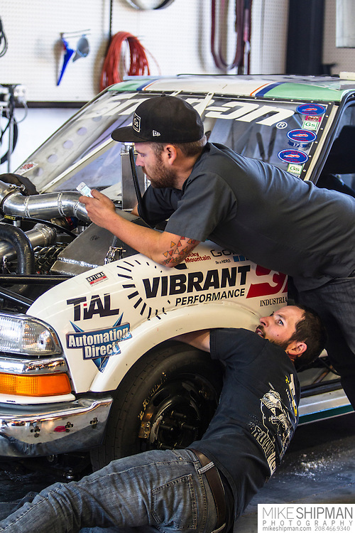 Greenspeed truck on the dyno at Adrenaline Truck Performance, Meridian