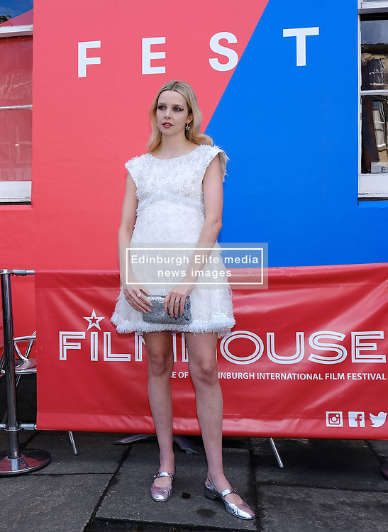 Edinburgh International Film Festival 2019<br /> <br /> Hurt By Paradise (World Premiere)<br /> <br /> Stars and guests arrive on the red carpet for the world premiere<br /> <br /> Pictured: Director Greta Bellamacina<br /> <br /> Aimee Todd | Edinburgh Elite media