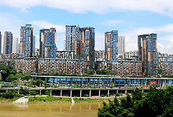 August 29, 2017 - Chongqin, Chongqin, China - Chongqing, CHINA-29th August 2017: (EDITORIAL USE ONLY. CHINA OUT) ..The beehive shaped residential buildings can be seen in southwest China's Chongqing. (Credit Image: © SIPA Asia via ZUMA Wire)