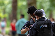 June 3, 2019 - London, GBR - Two black teenagers were detained by British police in London, on Monday, June 3, 2019 - after they were suspected of breaking the rule of law on the first day of US President Donald Trump's three days visit to the UK. (Credit Image: © Vedat Xhymshiti/ZUMA Wire)