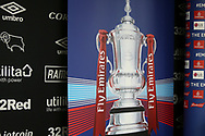 FA Cup is set to go during the The FA Cup 3rd round match between Derby County and Southampton at the Pride Park, Derby, England on 5 January 2019.