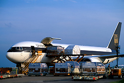 Cargo Being Loaded into UPS Airplane at Ellington Field