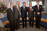 State visit of Luxembourg to the Netherlands /<br /> Staatsbezoek van Luxemburg aan Nederland<br /> <br /> On the photo / Op de foto;<br /> <br /> Grand Duke prince Henri and the Willem Alexander at the chamber of commerce Amsterdam where there is a speech of the Grand Duke on seminar for banking.<br /> <br /> Groothertog Prins Henri en de Willem Alexander bij de Kamer van Koophandel Amsterdam waar t een toespraak van de Groothertog op Seminar voor Bankwezen is.