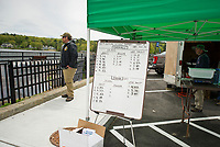 "The ""board"" at Weirs Beach shows the fish tally that had been checked in as of mid day Saturday during the 35th annual Winni Derby Weekend.  (Karen Bobotas/for the Laconia Daily Sun)"