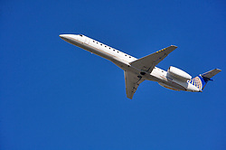 United Express jet departing from Houston's Intercontinental Airport