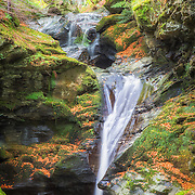 Small waterfall in the woods around Kenmore in Scotland.