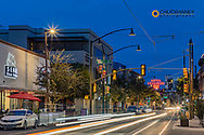Congress Street at dusk in downtown Tucson, Arizona, USA
