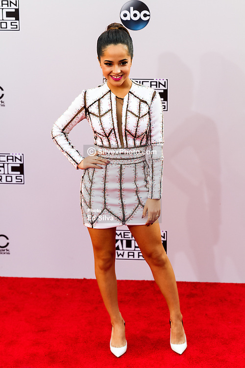 LOS ANGELES, CA - NOVEMBER 23: Singer Becky G arrives at the 2014 American Music Awards at Nokia Theatre L.A. Live on November 23, 2014 in Los Angeles, California. Byline, credit, TV usage, web usage or linkback must read SILVEXPHOTO.COM. Failure to byline correctly will incur double the agreed fee. Tel: +1 714 504 6870.