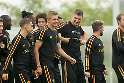 September 5, 2018 - Tubize, BELGIUM - Belgium's Leandro Trossard, Belgium's Timothy Castagne and Belgium's Thomas Meunier pictured during a training session of Belgian national soccer team the Red Devils in Tubize, Wednesday 05 September 2018. The team is preparing for a friendly match against Scotland on 07 September and the UEFA Nations League match against Iceland on 11 September. BELGA PHOTO BRUNO FAHY (Credit Image: © Bruno Fahy/Belga via ZUMA Press)