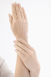 Close-up of beautiful hands of a woman, Bavaria, Germany