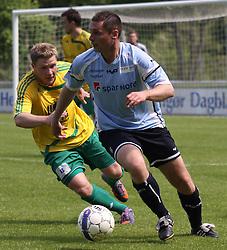 FODBOLD: David Rasmussen (Helsingør) under kampen i Danmarksserien, pulje 1, mellem Elite 3000 Helsingør og Skovlunde IF den 6. juni 2010 på Helsingør Stadion. Foto: Claus Birch