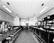 "Ackroyd 00052-1. ""The Beaver Restaurant. August 15, 1947"" 2384 NW Thurman (interior after remodeling)"