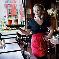 Nederland, Amsterdam , 6 januari 2012..Actrice Hanne Arendzen -bedrijfsleider bij cafe Panorama.Foto:Jean-Pierre Jans