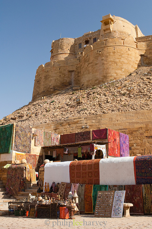 Jaisalmer Fort, the 'Golden Fort', is one of the largest forts in the world. Jaisalmer, Rajasthan, India