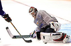 Goalkeeper Niklas Backstrom at practice of Finland national team at Hockey IIHF WC 2008 in Halifax,  on May 04, 2008 in Forum Centre, Halifax, Nova Scotia, Canada.  (Photo by Vid Ponikvar / Sportal Images)