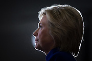 Democratic presidential candidate Hillary Clinton pauses during a campaign speech at a rally in Orlando, Florida, U.S., September 21, 2016.