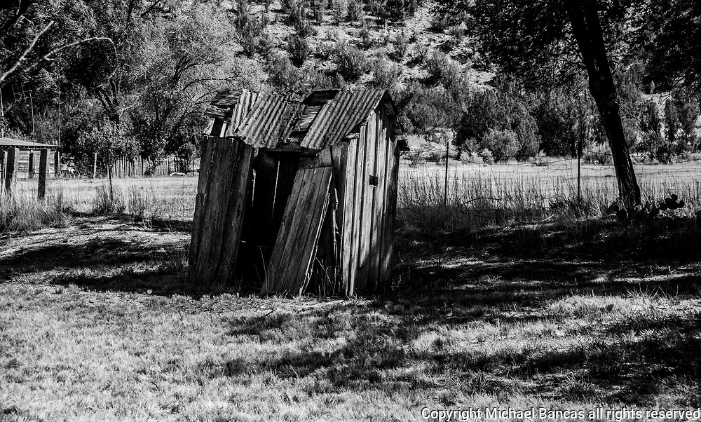 Shed on a property in Lincoln New Mexico