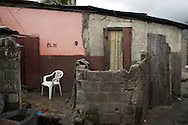 A private dwelling in the impoverished community of Shada. Cap Haitian, Haiti, January 28, 2008.