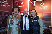 NO FEE PICTURES<br /> 23/1/16 Minister for Tourism Michael Ring and Maureen Ledwith, organiser of the Holiday World Show at the Clayton Hotels stand at the Holiday World Show at the RDS in Dublin. Picture: Arthur Carron