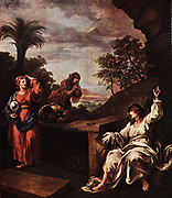 The Three Mary's at the Tomb', 18th century (1910) painted by William Hogarth as one of the panels in the triptych painted as an alter piece for the church of St Mary, Redcliffe, Bristol.