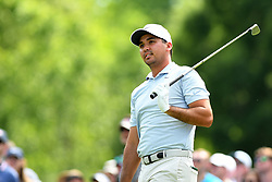 May 3, 2019 - Charlotte, NC, U.S. - CHARLOTTE, NC - MAY 03: Jason Day follows his ball to the 13th green from the tee box in round two of the Wells Fargo Championship on May 03, 2019 at Quail Hollow Club in Charlotte,NC. (Photo by Dannie Walls/Icon Sportswire) (Credit Image: © Dannie Walls/Icon SMI via ZUMA Press)