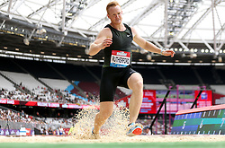 Great Britain's Greg Rutherford fails his second attempt at clearing a jump in the Men's Long Jump during day two of the Muller Anniversary Games at The Queen Elizabeth Stadium, London.