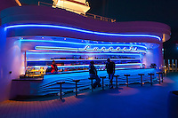 "The ""Currents"" bar aboard the new Disney cruise ship ""Disney Dream"" sailing between Florida and the Bahamas."