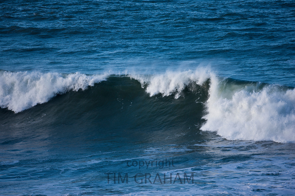 Rolling waves in the sea at Woolacombe, North Devon, England<br /> FINE ART PHOTOGRAPHY by Tim Graham