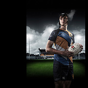 A portrait of Basingstoke Colts Rugby player photographed at the Basingstoke RFC ground