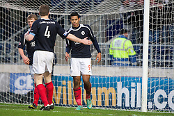 Falkirk's Lyle Taylor celebrates after scoring their fourth goal..Falkirk 4 v 1 Forfar Athletic, Scottish Cup fifth round tie, 2/2/2013. .©Michael Schofield.