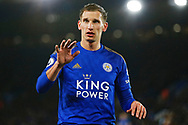 Leicester City midfielder Marc Albrighton in action during the Premier League match between Leicester City and Aston Villa at the King Power Stadium, Leicester, England on 9 March 2020.