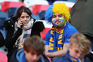 AFC Wimbledon fan during the The FA Cup 3rd round match between Tottenham Hotspur and AFC Wimbledon at Wembley Stadium, London, England on 7 January 2018. Photo by Matthew Redman.
