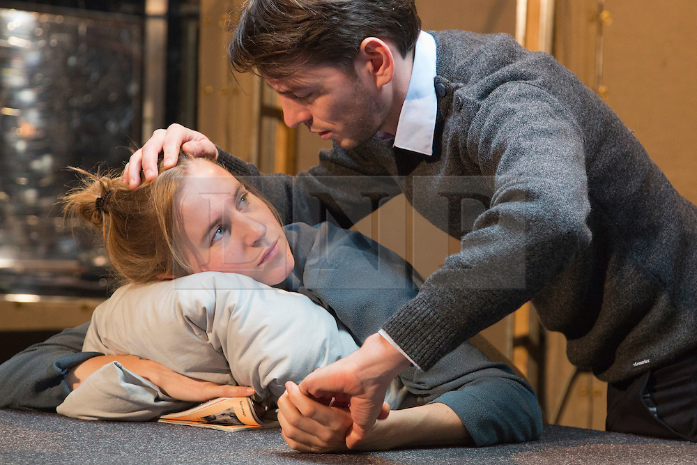 © Licensed to London News Pictures. 14/11/2013. London, England. Pictured: Alwin Pulinckx and Suzanne Grotenhuis as the young couple. Toneelgroep Amsterdam perform Scenes from a Marriage by Ingmar Bergman at the Barbican Theatre, London, 14-17 November 2013. With Alwin Pulinckx, Roeland Fernhout and Hugo Koolschijn as Johan and Suzanne Grotenhuis, Hadewych Minis and Janni Goslinga as Marianne; directed by Ivo van Hove. Photo credit: Bettina Strenske/LNP