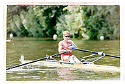 Henley on Thames, England, 1999 Henley Royal Regatta, River Thames, Henley Reach,  [© Peter Spurrier/Intersport Images],The Princess Royal Challenge Cup. Kingston RC., Temple Island,