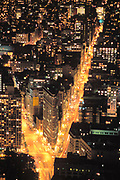 Flatiron Building, Aerial, 5th Avenue & Broadway, Manhattan, New York