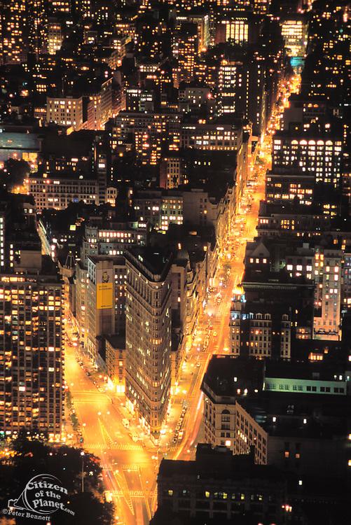 Flatiron Building, Aerial, 5th Avenue & Broadway, Manhattan, New York