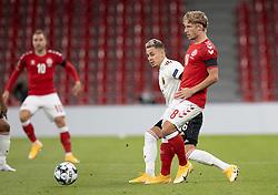 Daniel Wass (Danmark) under UEFA Nations League kampen mellem Danmark og Belgien den 5. september 2020 i Parken, København (Foto: Claus Birch).