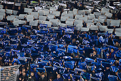 LIVERPOOL, ENGLAND - Monday, December 19, 2016: Everton supporters form a mosaic before the FA Premier League match against Liverpool, the 227th Merseyside Derby, at Goodison Park. (Pic by Gavin Trafford/Propaganda)