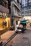 Outside Ho Lee Fook, 1 Elgin Street, Hong Kong