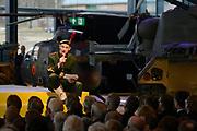 Koning Willem Alexander opent Nationaal Militair Museum op het voormalig vliegveld Soesterg. In het museum zijn de collecties van het Legermuseum in Delft en het Militair Luchtvaart Museum in Soesterberg samengevoegd. <br /> <br /> <br /> King Willem Alexander opens National Military Museum at the former airport Soesterg. In the museum are the collections of the Army Museum in Delft and the Military Aviation Museum in Soesterberg merged.
